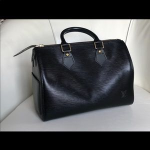 Louis Vuitton Vintage Epi Noir Speedy 25